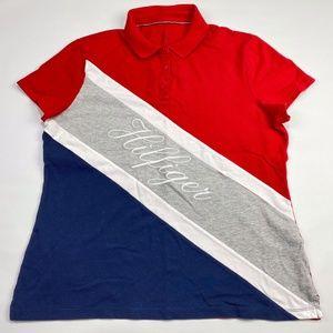Tommy Hilfiger Women Short Sleeve Polo Shirt XL